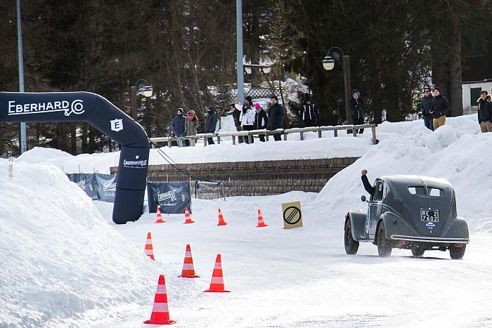 Sala-Cioffi su Lancia Aprilia del 1937 vincono il Trofeo Eberhard sul lago ghiacciato