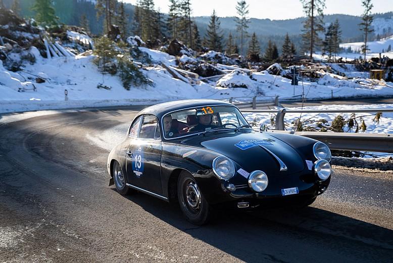 Barcella-Ghidotti on a 1963 Porsche 356 C Coupé win the Winter Marathon 2019