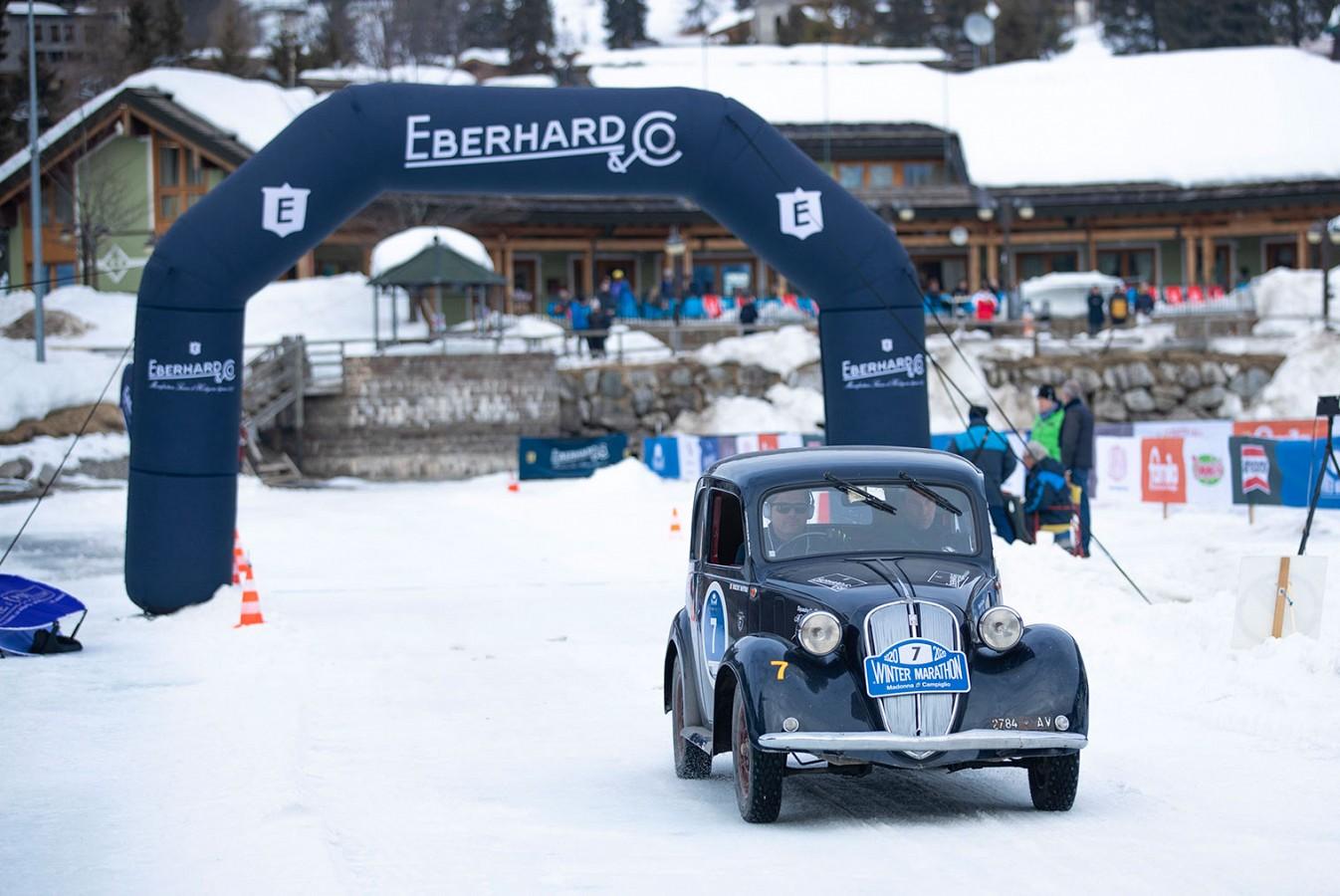 Bellini-Tiberti si aggiudicano il Trofeo Eberhard sul lago ghiacciato
