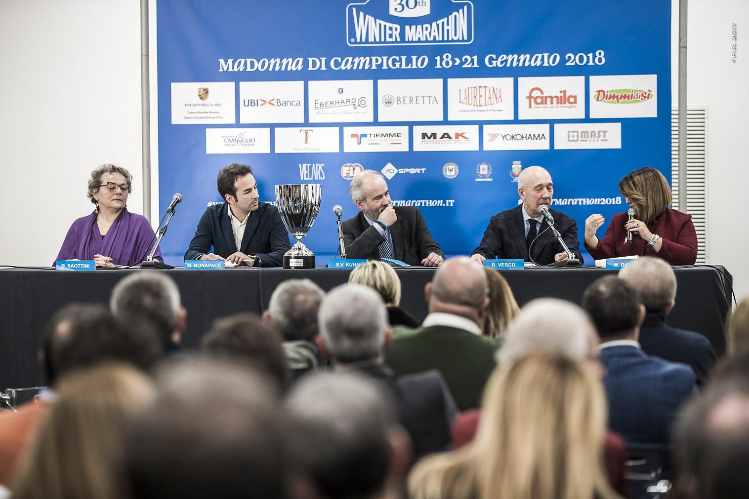 Presented at Centro Porsche Brescia Saottini the 30th edition of the Winter Marathon